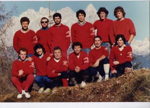 Gruppo  1983. in piedi da sx  Diego T. Fabio Bertagnin Rena